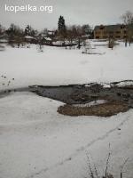 Сильно упал уровень воды в Келарском пруду